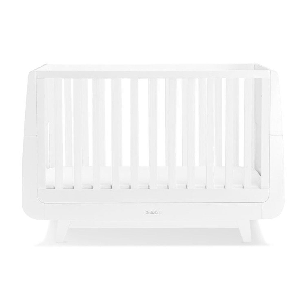 Bambinista-SNUZ-Furniture-SnuzKot Luxe Cot Bed - White