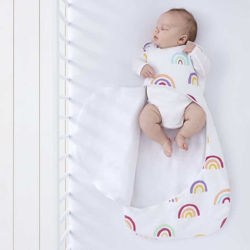 Bambinista-SNUZ-Bedding-SnuzPouch Sleeping Bag, 2.5 Tog - Rainbow, 0-6M