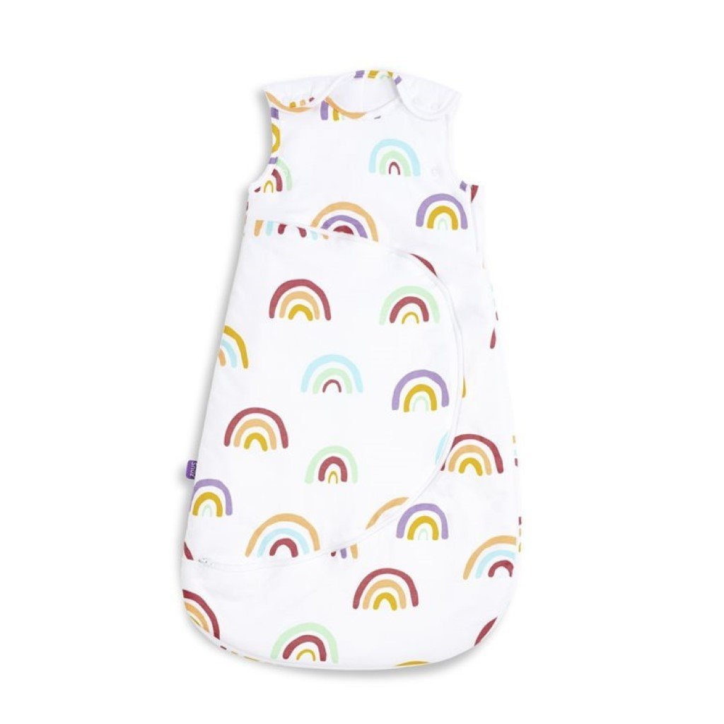 Bambinista-SNUZ-Bedding-SnuzPouch Sleeping Bag, 2.5 Tog - Rainbow, 6-18M