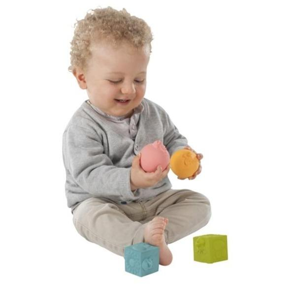 Bambinista-SOPHIE LA GIRAFE-Toys-Sophie the Giraffe So Pure Set of Balls & Cubes