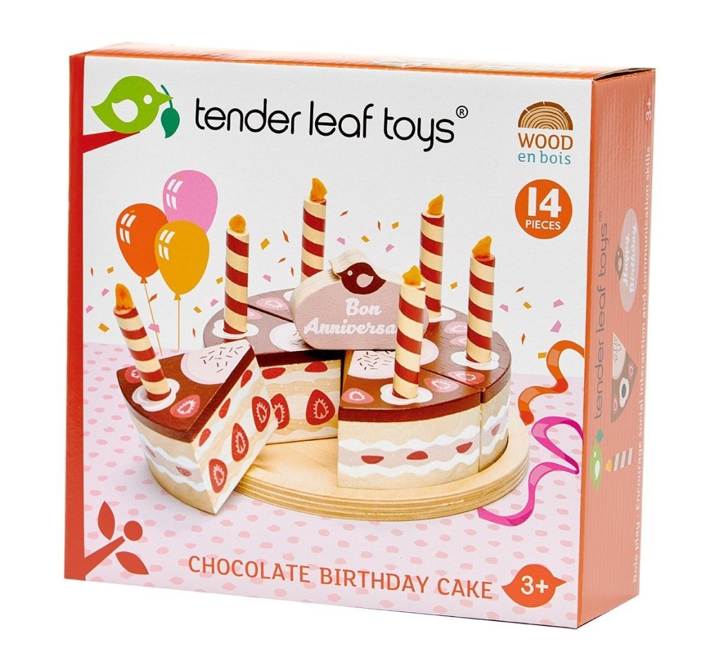 Bambinista-TENDER LEAF TOYS-Toys-Chocolate Birthday Cake