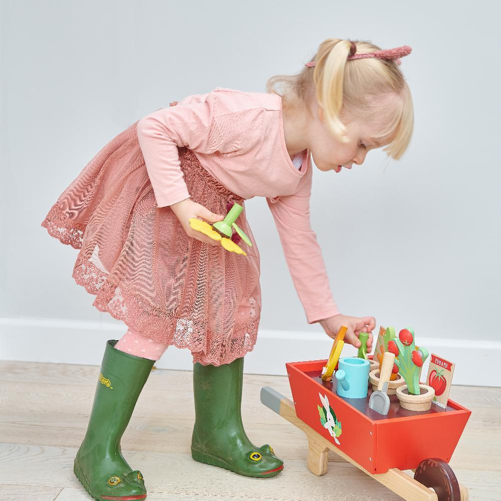 Bambinista-TENDER LEAF TOYS-Toys-Garden Wheelbarrow Set