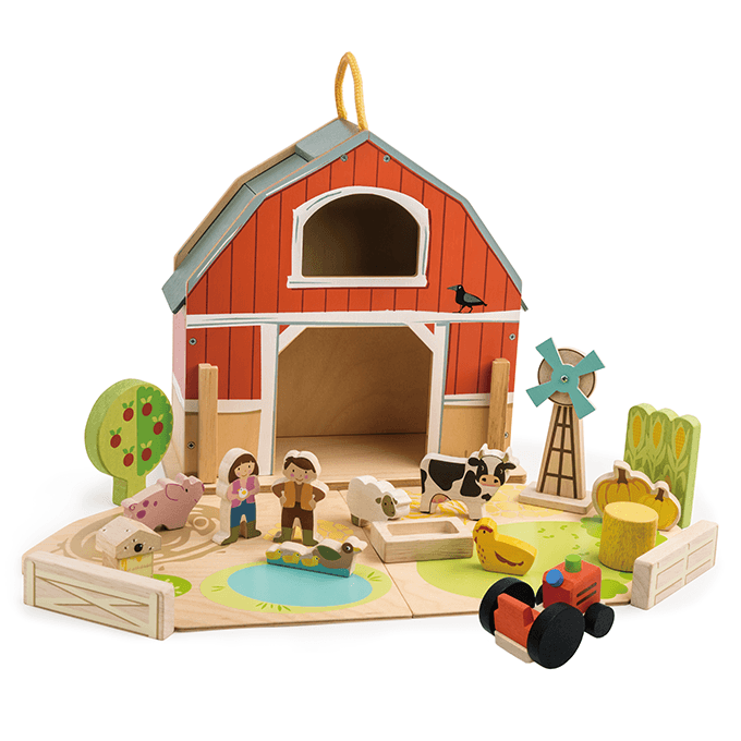 Bambinista-TENDER LEAF TOYS-Toys-Little Barn Set