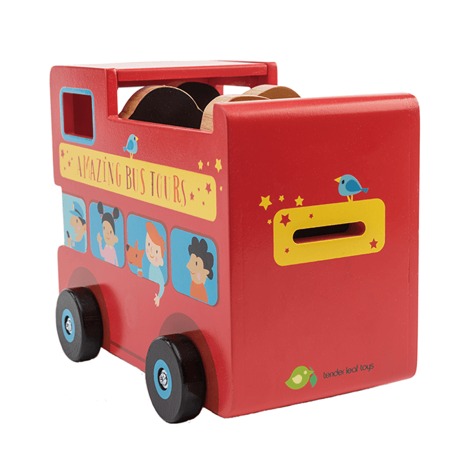 Bambinista-TENDER LEAF TOYS-Toys-London Bus Money Box