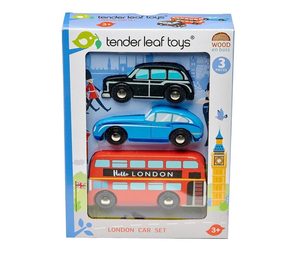 Bambinista-TENDER LEAF TOYS-Toys-London Car Set