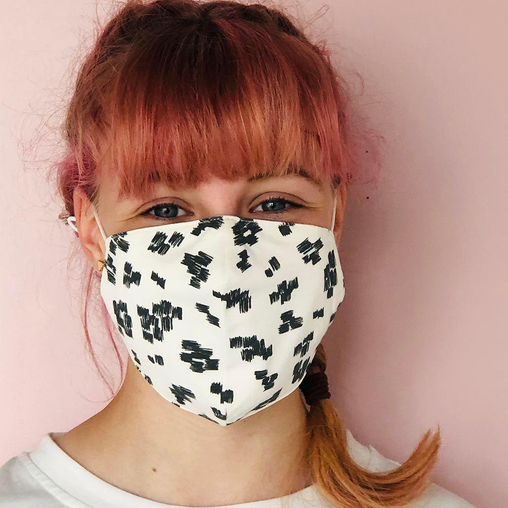 Bambinista-THE BONNIE MOB-Accessories-Adults Face Mask MONOCHROME Organic Cotton - PRE-ORDER