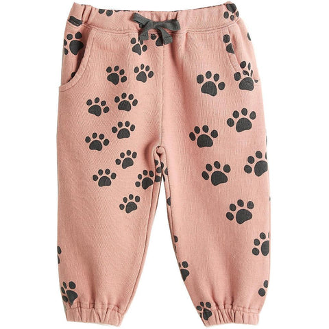 Bambinista-THE BONNIE MOB-Bottoms-Herc Joggers Pink Paws