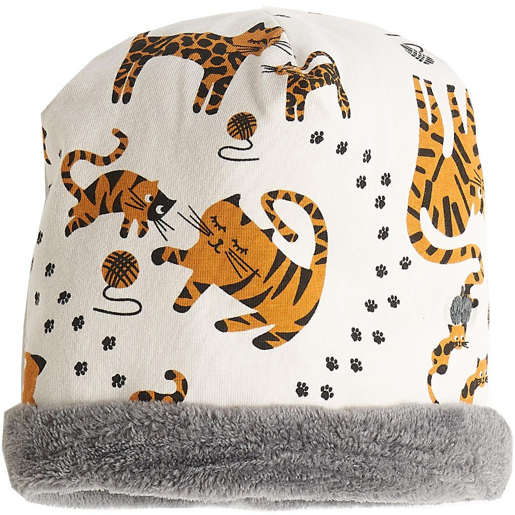 Bambinista-THE BONNIE MOB-Accessories-Katz Reversible Beanie with Faux Fur Sand Cat