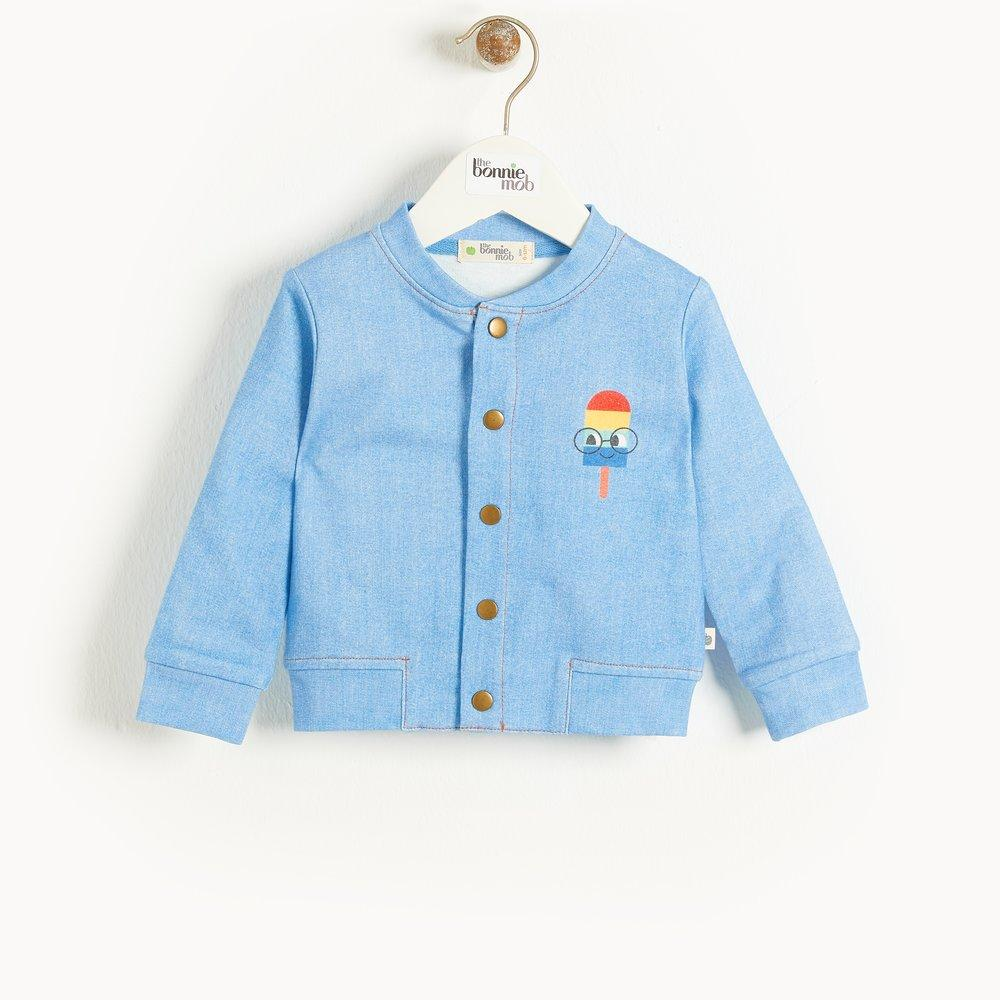 Bambinista-THE BONNIE MOB-Tops-LOVE Martinique Eco Denim Bomber Jacket