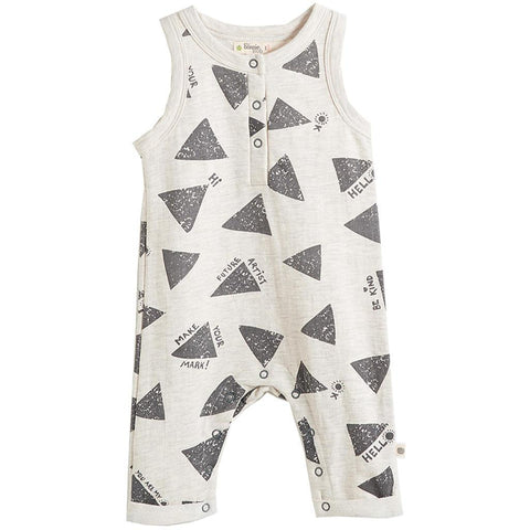 Bambinista-THE BONNIE MOB-Rompers-Morris Sleeveless Sweatsuit Playsuit Grey Sun Ray