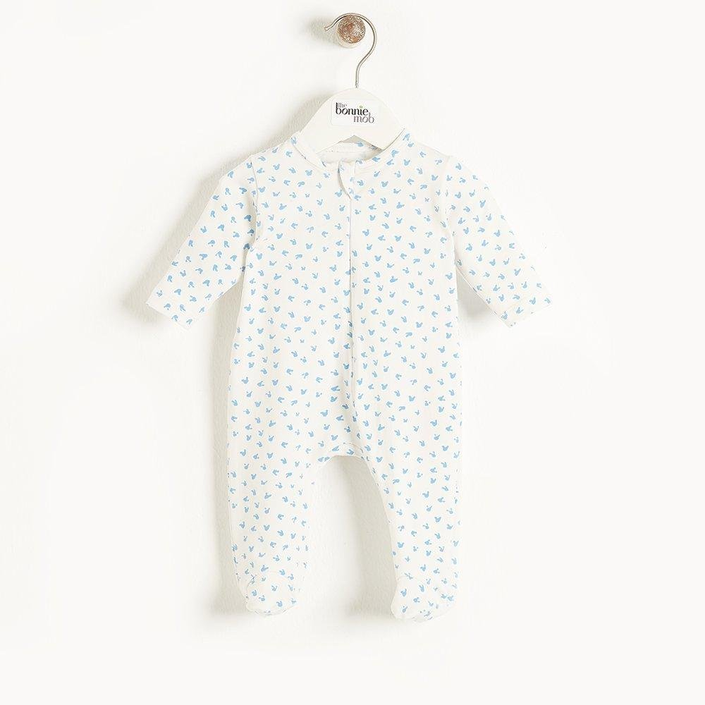 Bambinista-THE BONNIE MOB-Rompers-Sleepy Zip Sleepsuit Blue