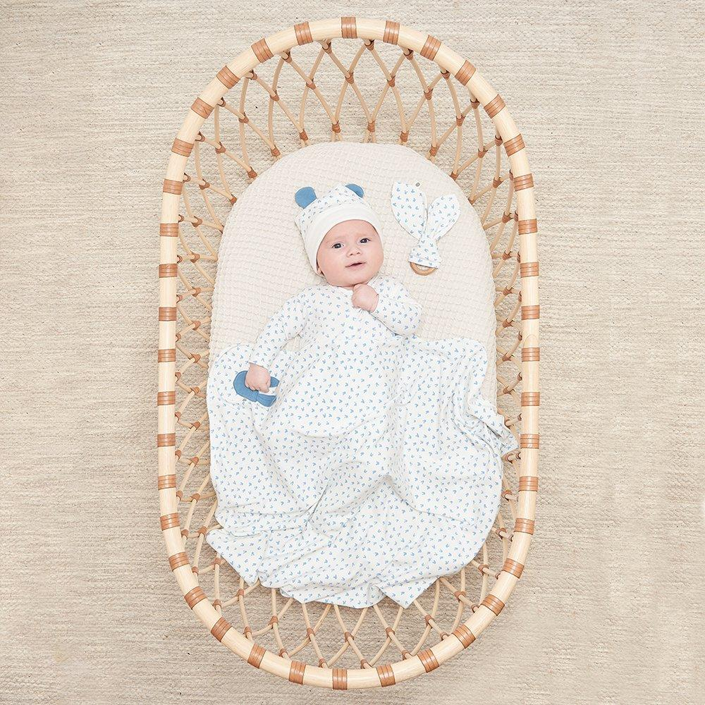 Bambinista-THE BONNIE MOB-Blankets-Sweets Baby Hooded Blanket Blue