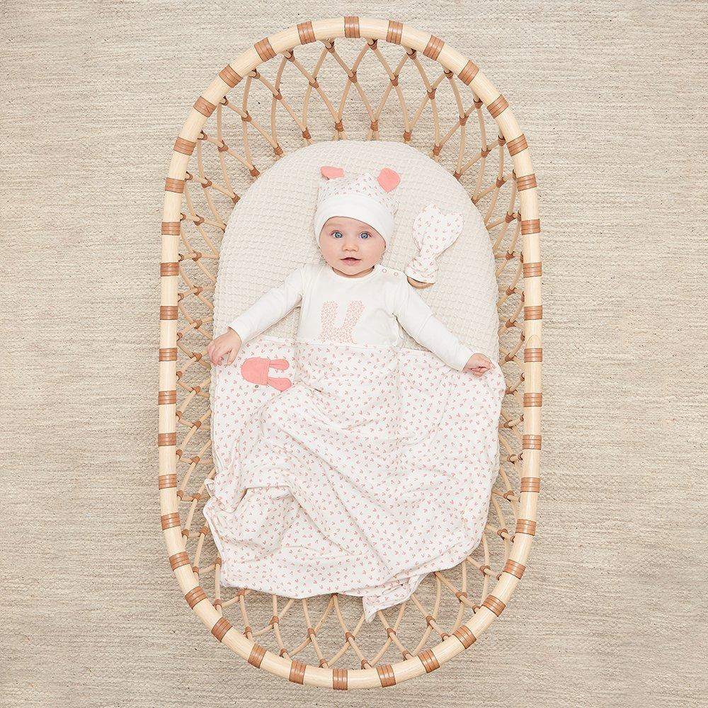Bambinista-THE BONNIE MOB-Blankets-Sweets Baby Hooded Blanket Pink