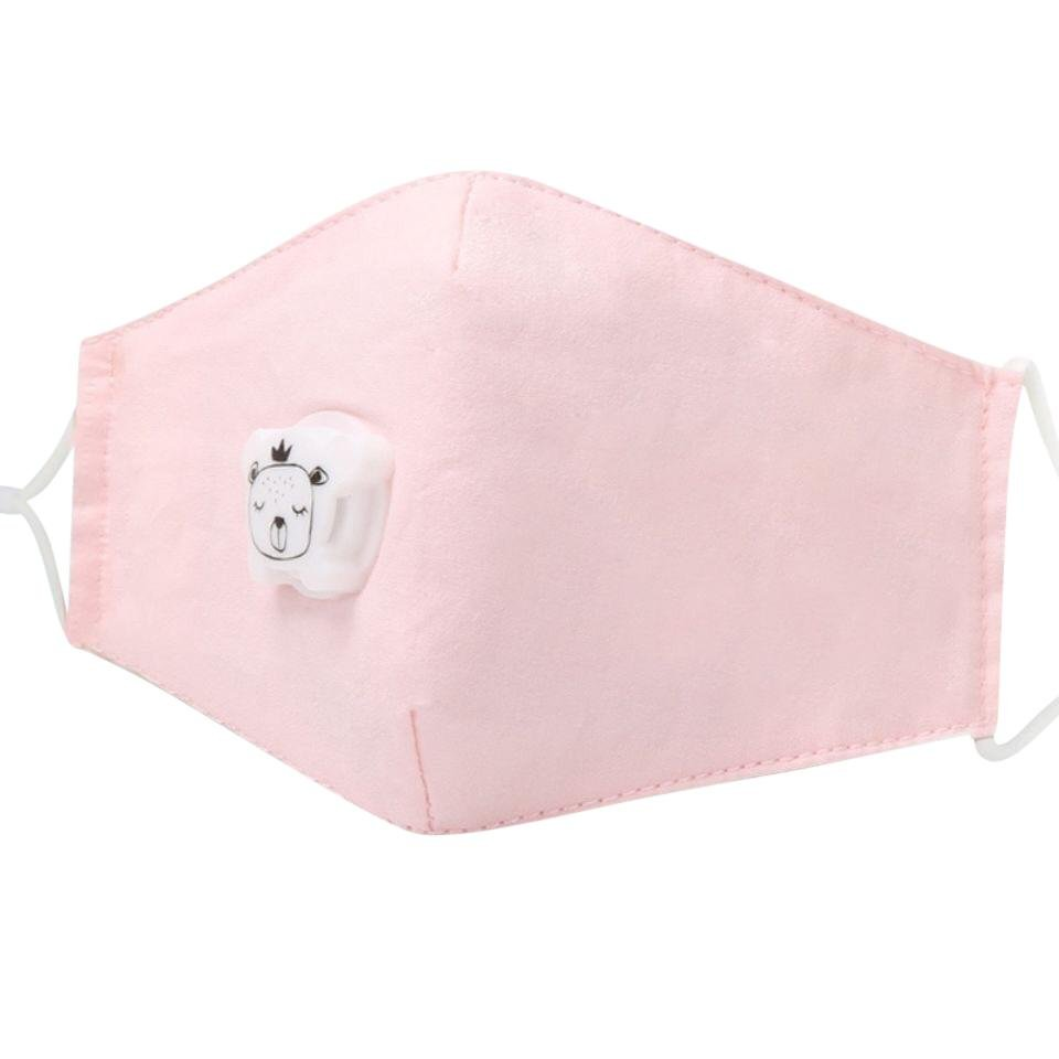 Bambinista-THE KIDS MASK-Accessories-Kids Reusable Face Mask with PM2.5 Carbon Filter - Pastel Pink