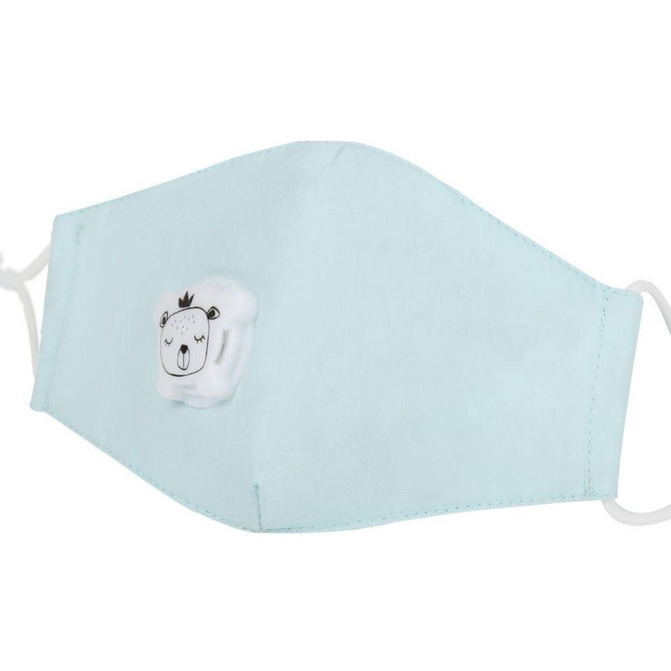 Bambinista-THE KIDS MASK-Accessories-Pastel Blue Kids Face Mask with Breathing Valve