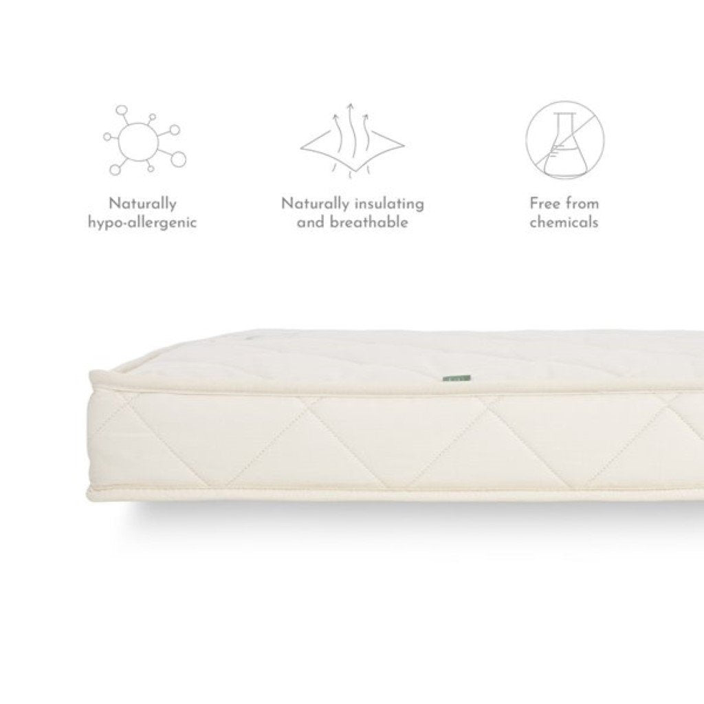 Bambinista-THE LITTLE GREEN SHEEP-Bedding-The Little Green Sheep Natural SnuzKot Extension Mattress Piece