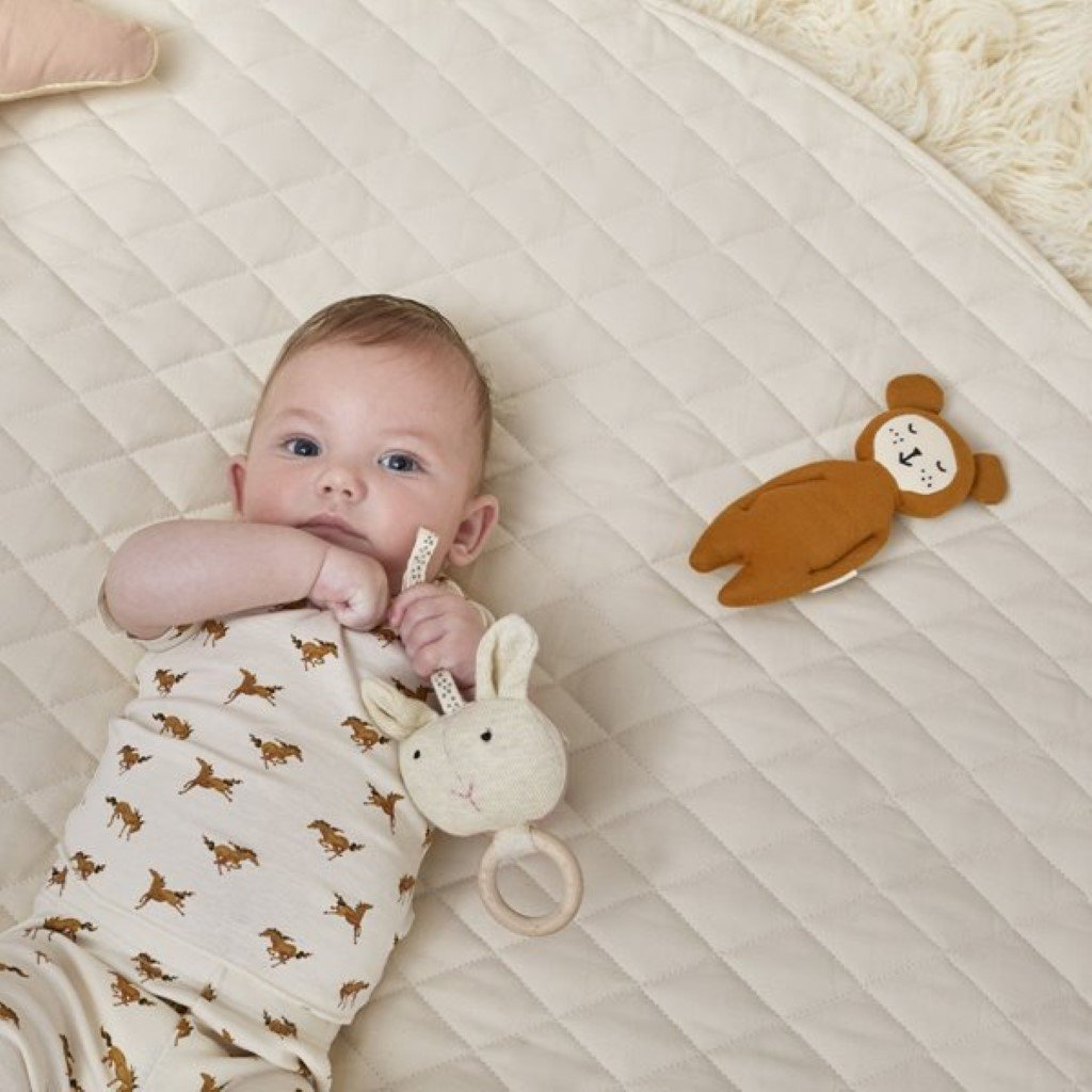 Bambinista-THE LITTLE GREEN SHEEP-Playmat-The Little Green Sheep Quilted Baby Playmat - Linen