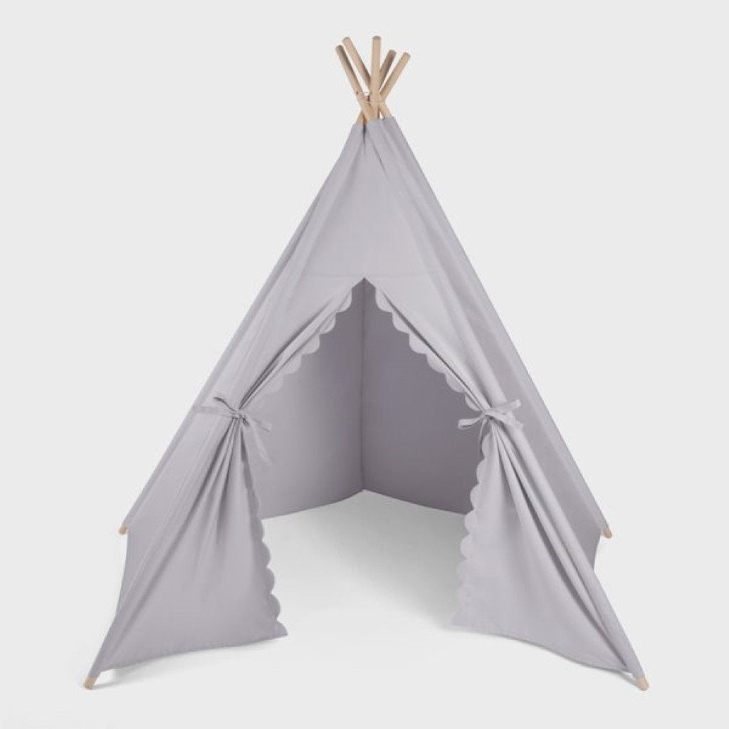 Bambinista-THE LITTLE GREEN SHEEP-Furniture-The Little Green Sheep Teepee Play Tent - Grey