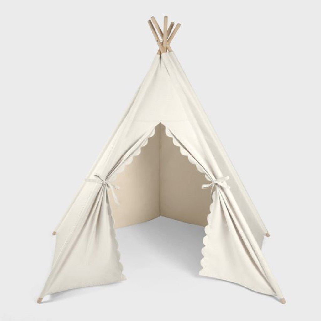 Bambinista-THE LITTLE GREEN SHEEP-Furniture-The Little Green Sheep Teepee Play Tent - Linen