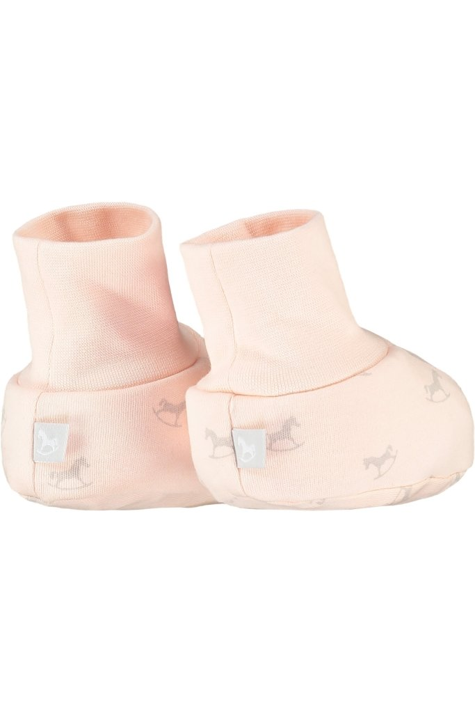 Bambinista-THE LITTLE TAILOR-Accessories-2 Pack Soft Jersey Baby Booties - Pink