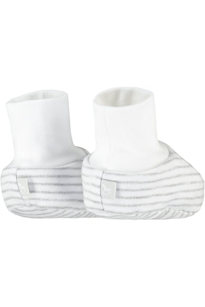 Bambinista-THE LITTLE TAILOR-Accessories-2 Pack Soft Jersey Baby Booties - White