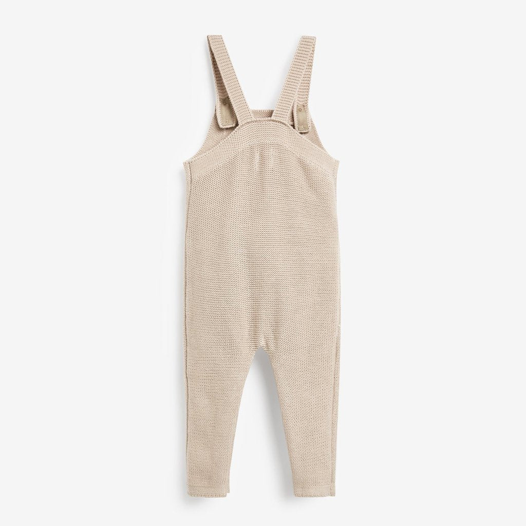Bambinista-THE LITTLE TAILOR-Dungarees-Cotton Knitted Baby Dungaree - Fawn Ecru