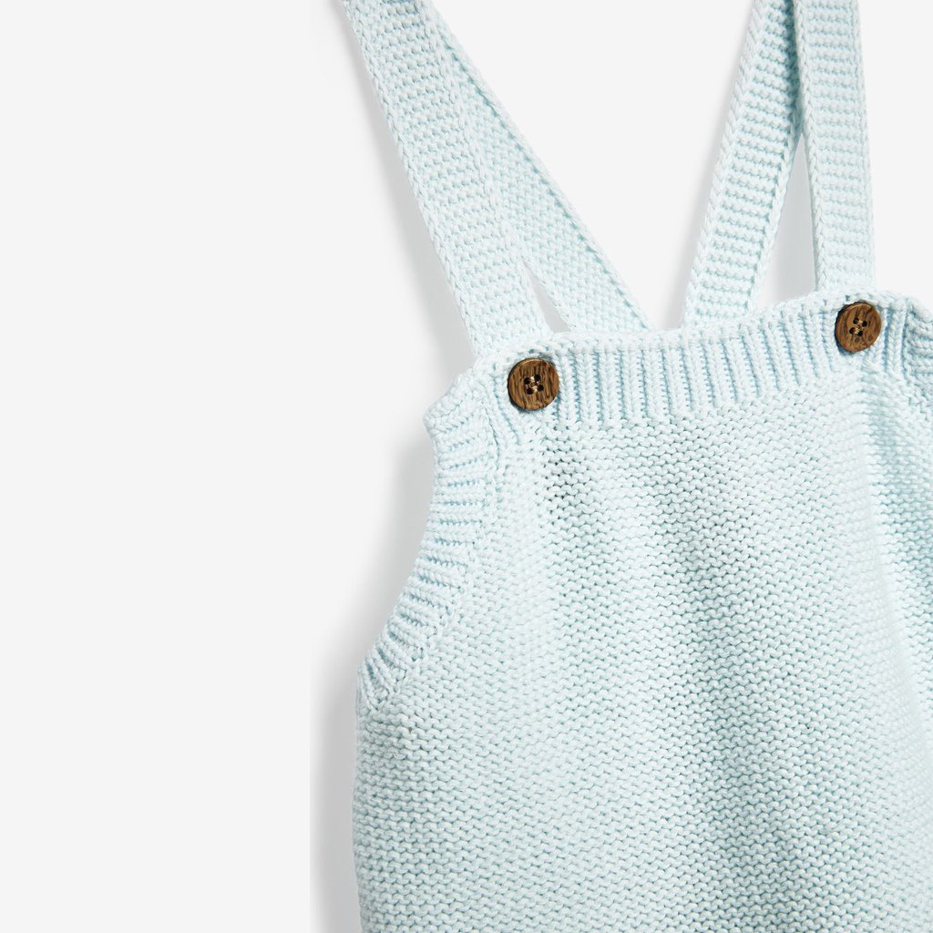 Bambinista-THE LITTLE TAILOR-Rompers-Cotton Knitted Baby Romper - Blue