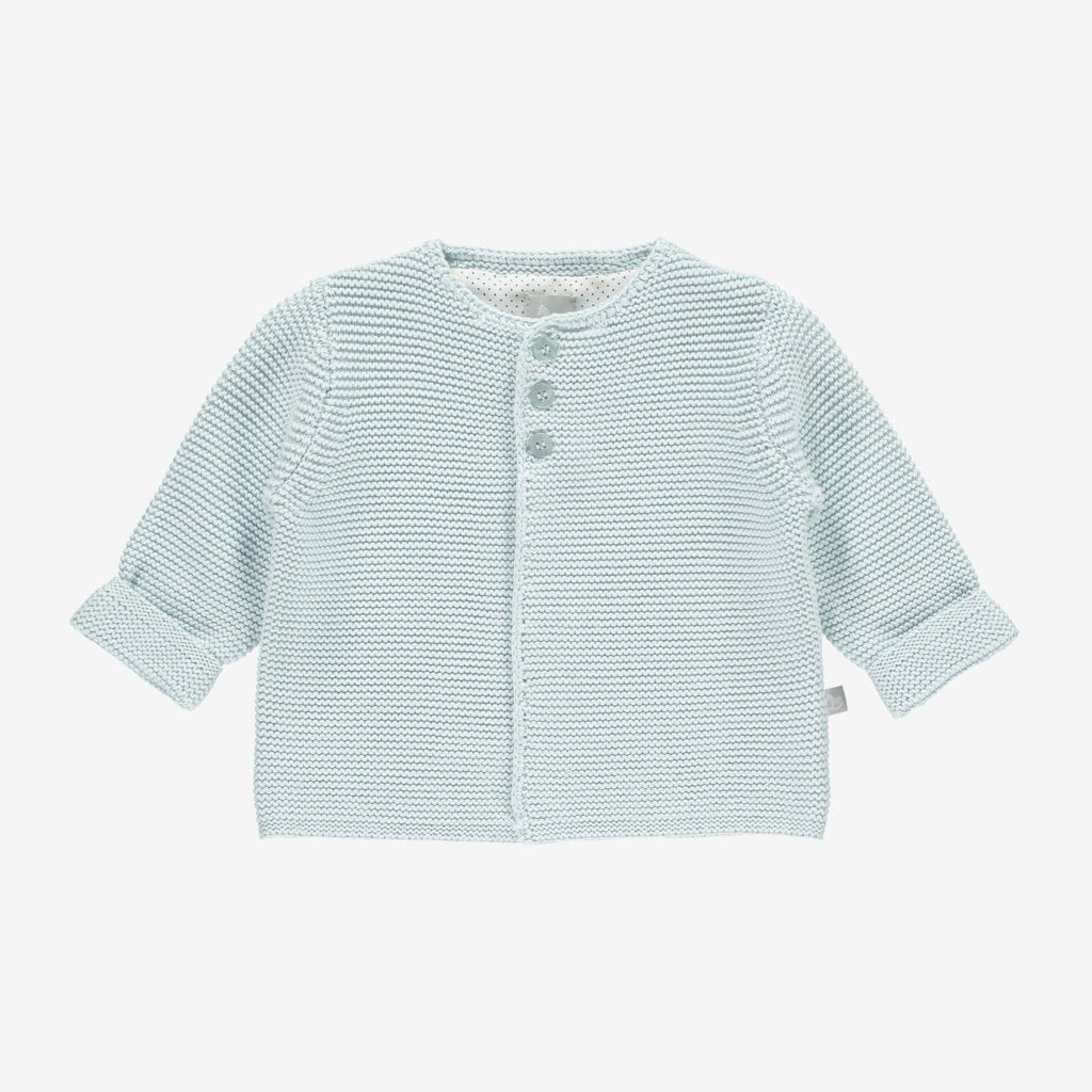 Bambinista-THE LITTLE TAILOR-Cardigans-Cotton Knitted Cardigan - Blue