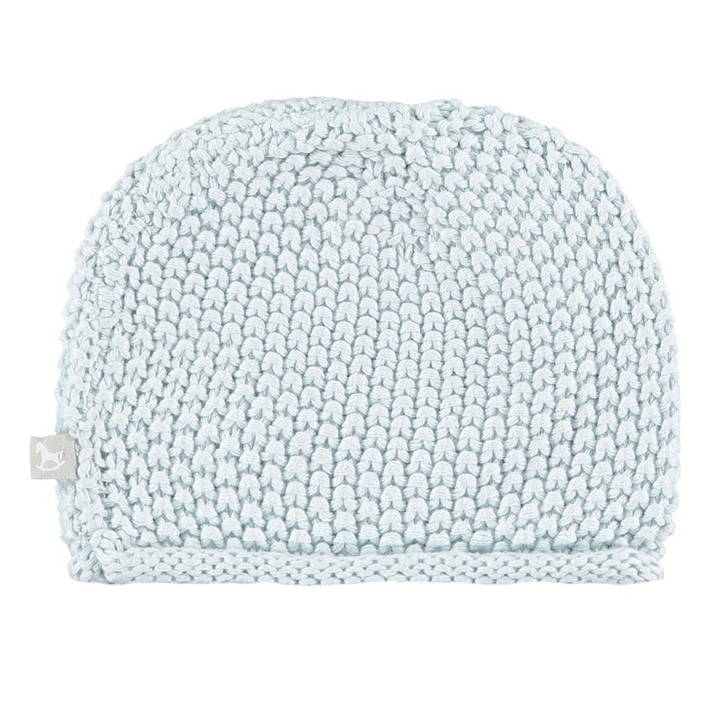 Bambinista-THE LITTLE TAILOR-Outerwear-Cotton Knitted Hat - Blue