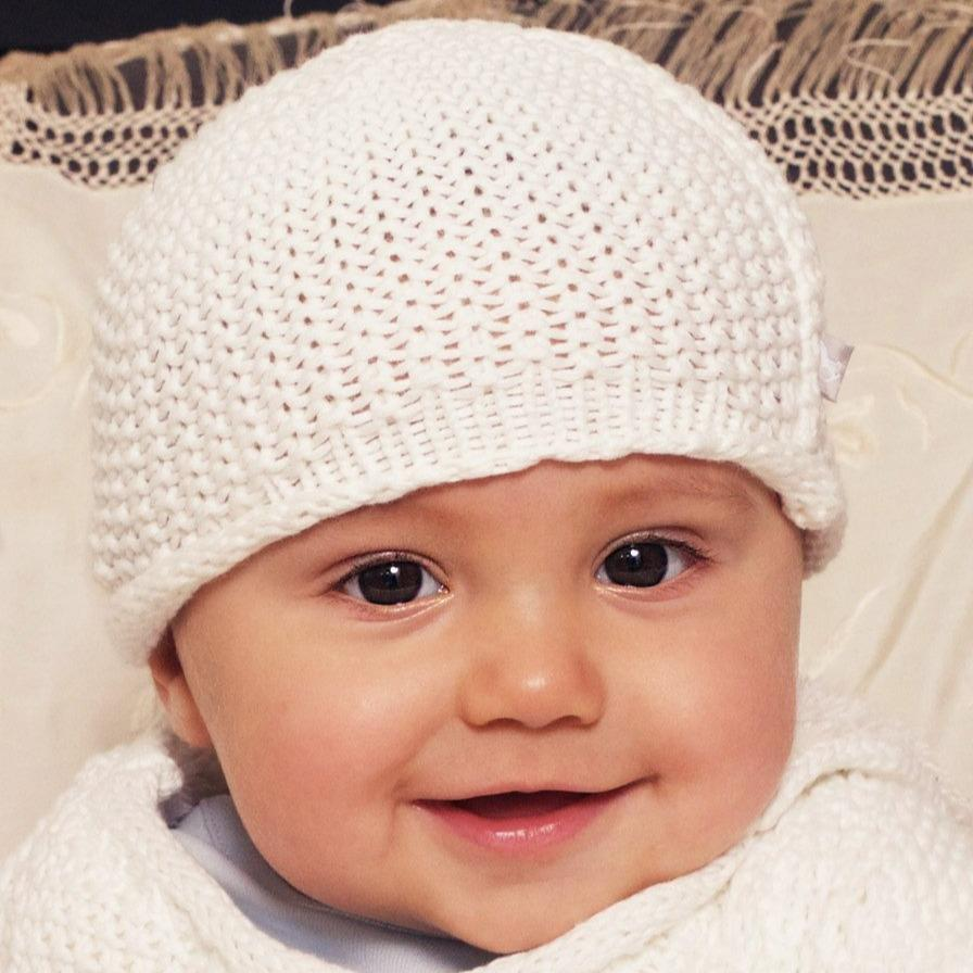 Bambinista-THE LITTLE TAILOR-Accessories-Cotton Knitted Hat - Cream