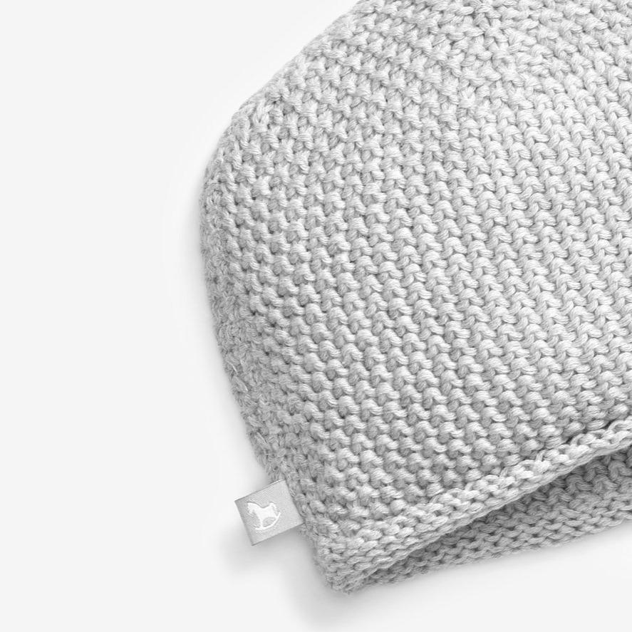 Bambinista-THE LITTLE TAILOR-Accessories-Cotton Knitted Hat - Grey