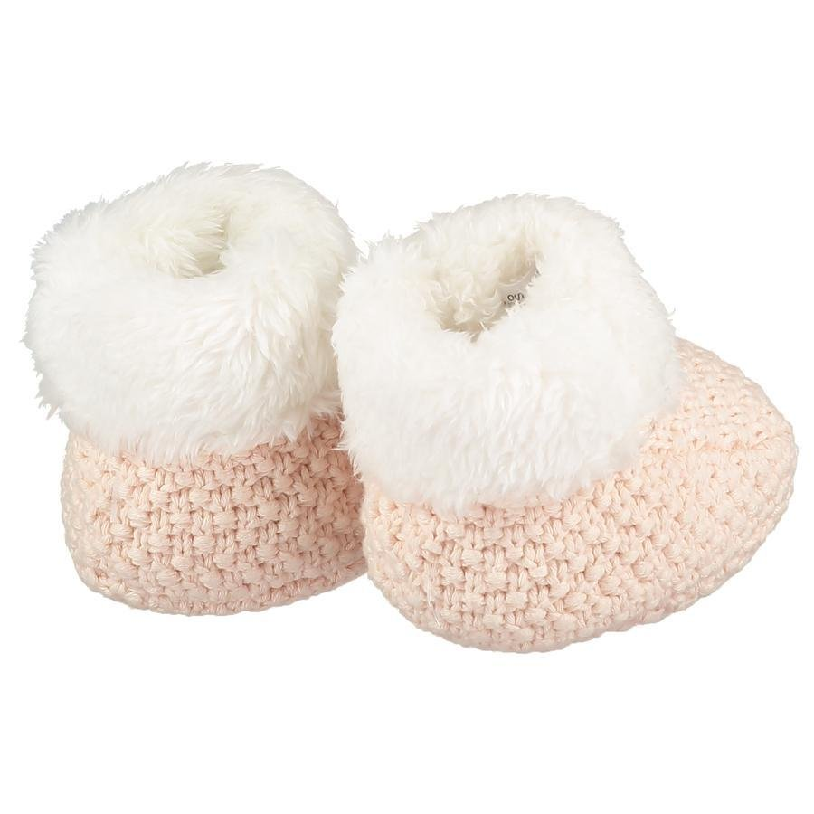 Bambinista-THE LITTLE TAILOR-Outerwear-Knitted Plush Lined Booties - Pink