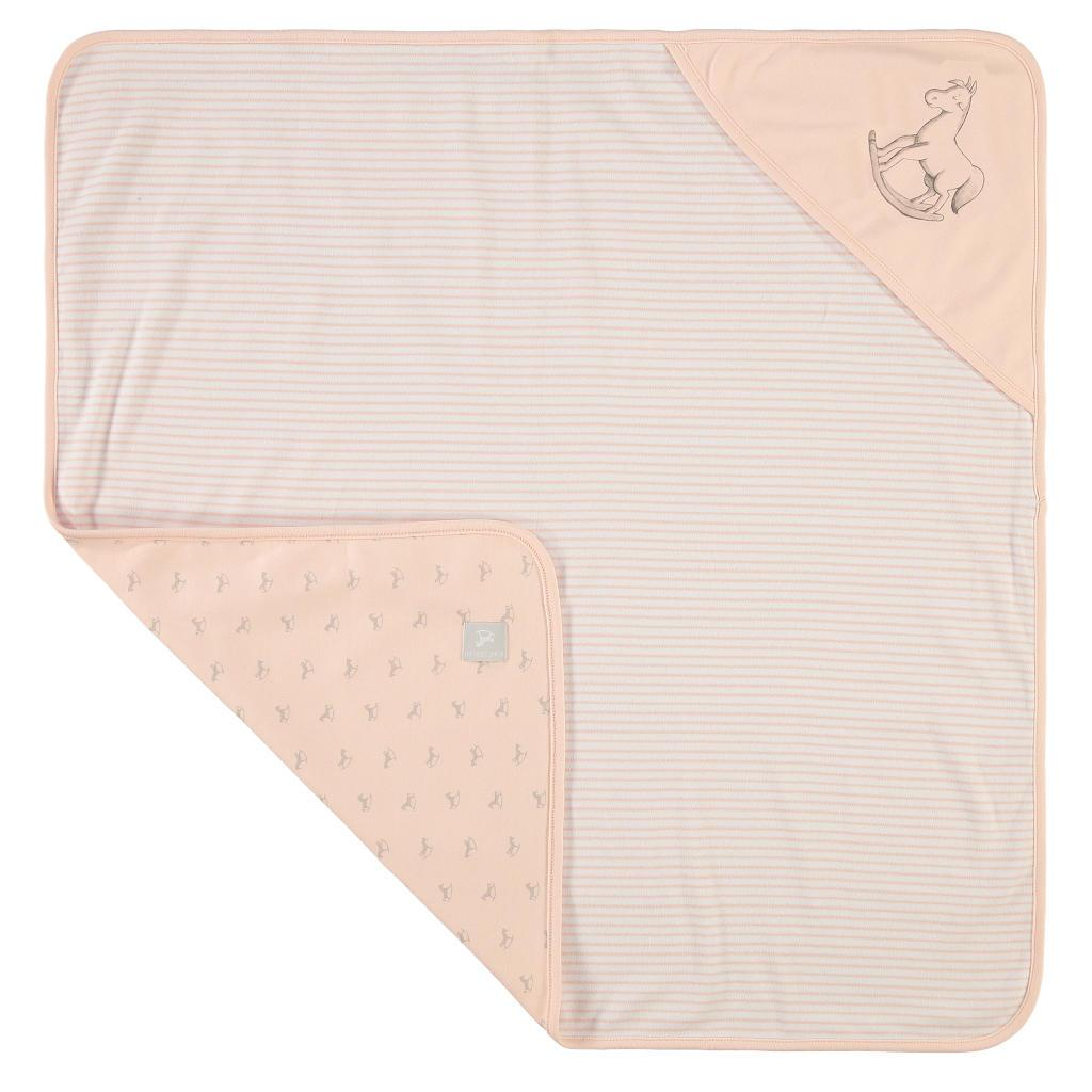 Bambinista-THE LITTLE TAILOR-Blankets-Reversible Soft Jersey Blanket - Pink