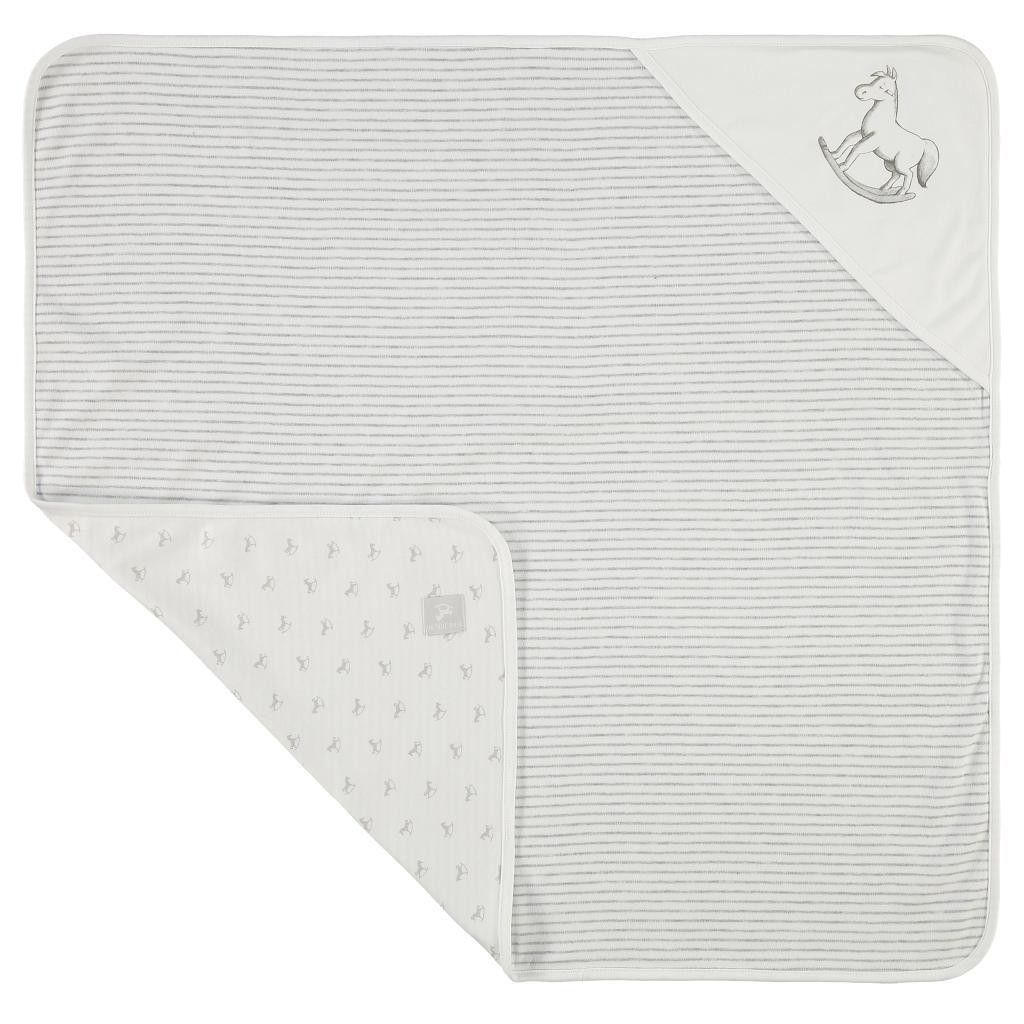Bambinista-THE LITTLE TAILOR-Blankets-Reversible Soft Jersey Blanket - White