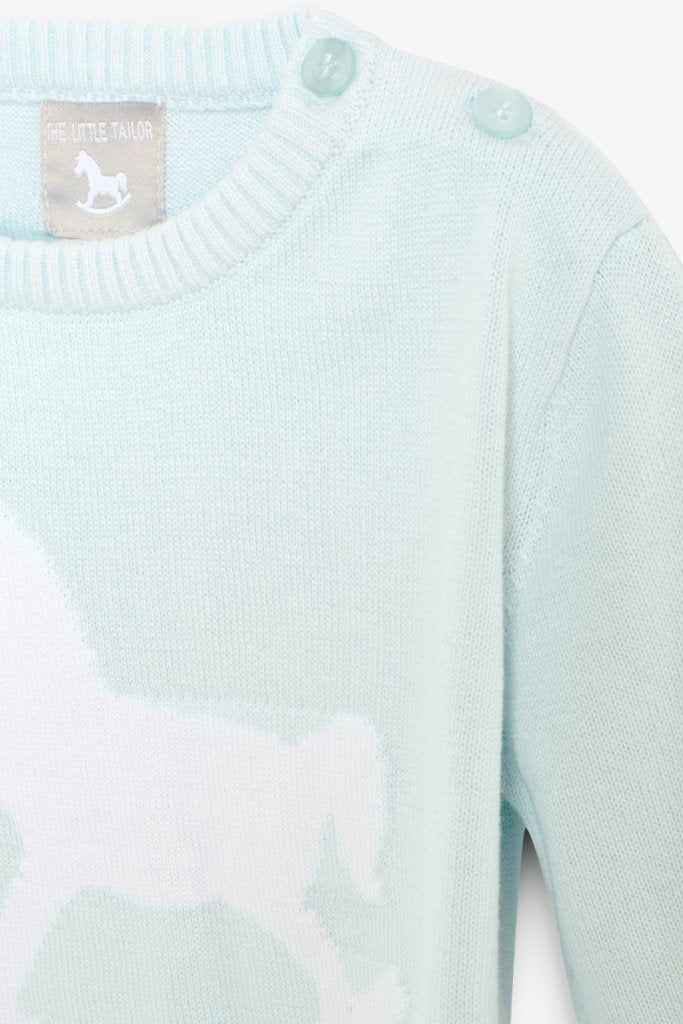 Bambinista-THE LITTLE TAILOR-Tops-Rocking Horse Jumper -Blue