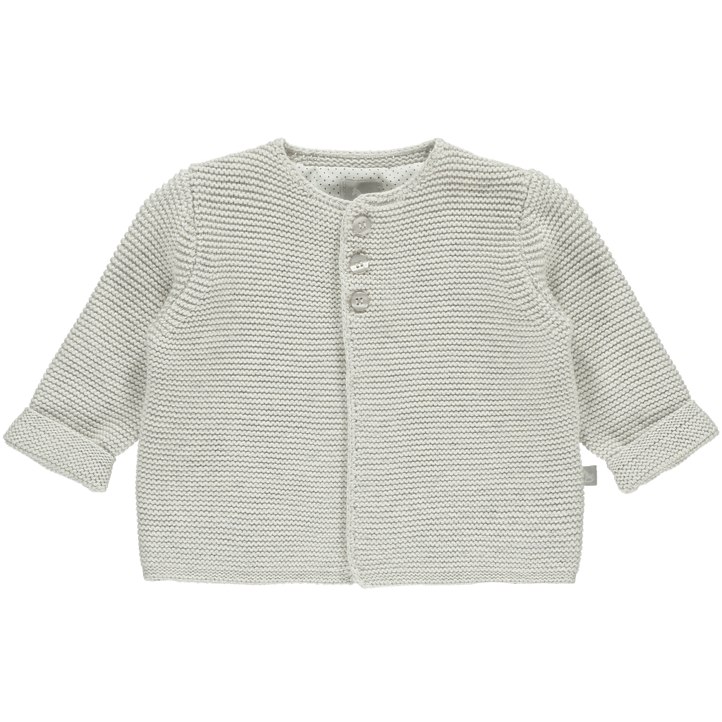 Bambinista-THE LITTLE TAILOR-Tops-Soft Grey Cotton Cardigan
