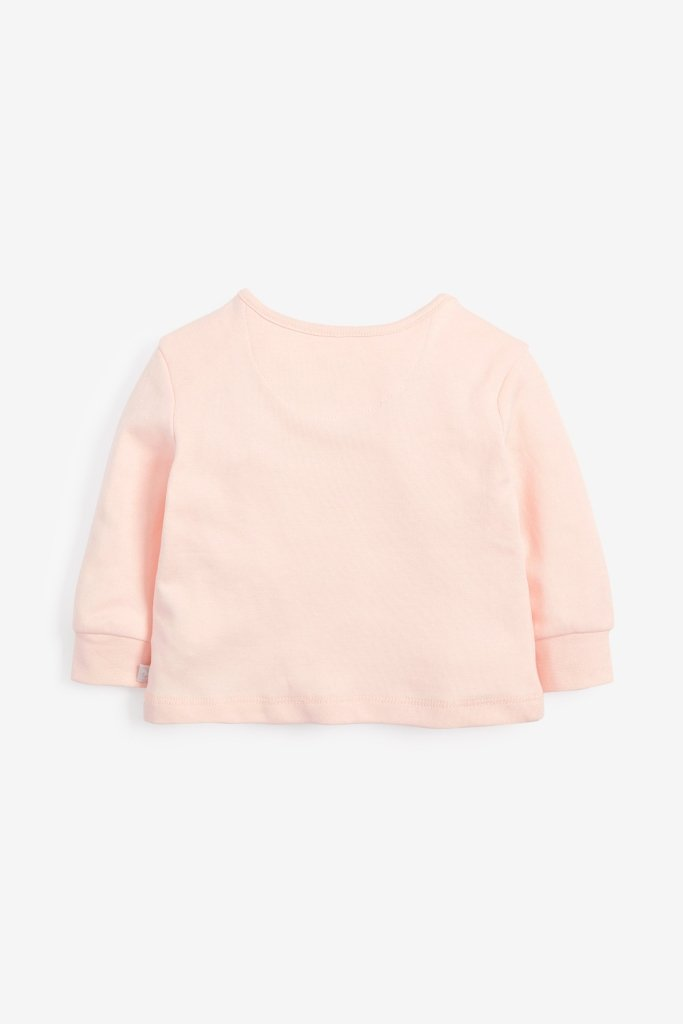 Bambinista-THE LITTLE TAILOR-Tops-Super Soft Jersey Chest Print Top - Pink