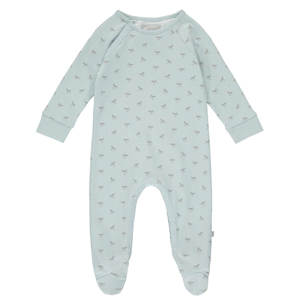 Bambinista-THE LITTLE TAILOR-Rompers-Super Soft Jersey Sleepsuit - Blue