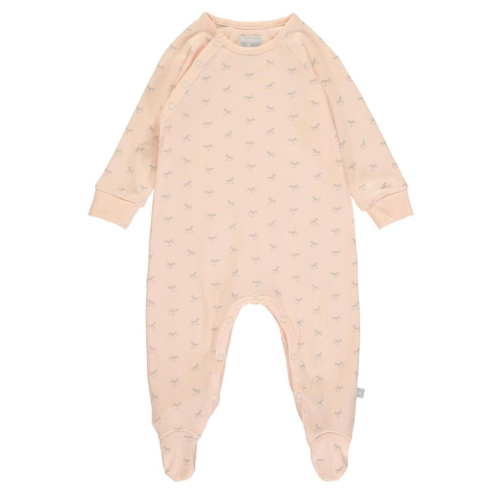 Bambinista-THE LITTLE TAILOR-Rompers-Super Soft Jersey Sleepsuit - Pink