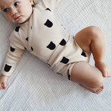 Bambinista-TOBIAS & THE BEAR-Onesies-Bear Blush Long Sleeve Kimono Onesie