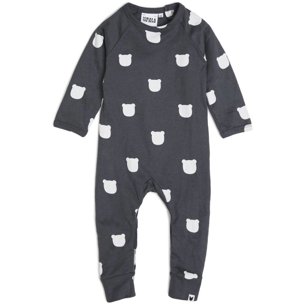 Bambinista-TOBIAS & THE BEAR-Rompers-Bear Charcoal Romper