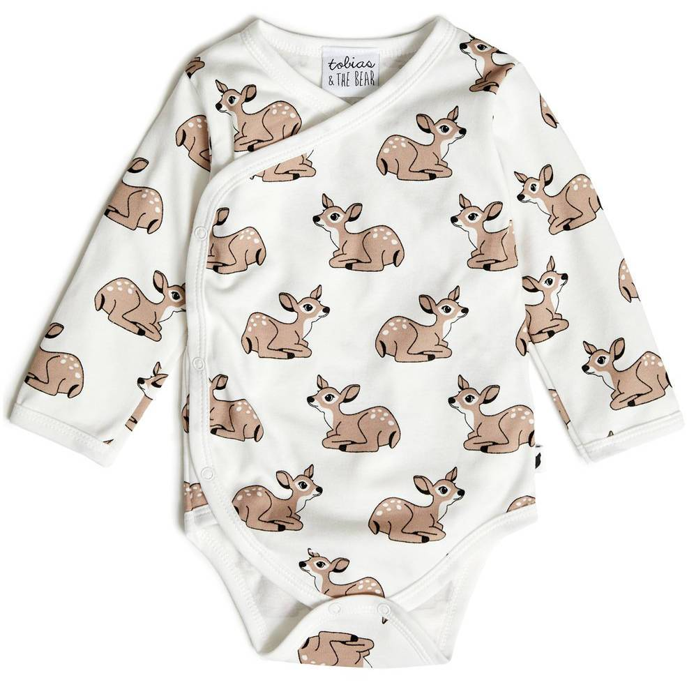 Bambinista-TOBIAS & THE BEAR-Onesies-Fawn Long Sleeve Onesie