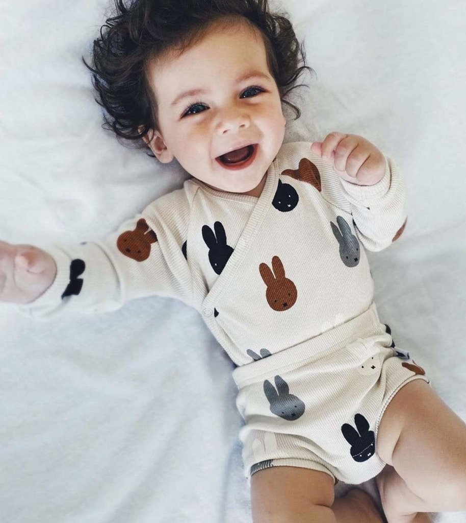Bambinista-TOBIAS & THE BEAR-Onesies-Miffy & Friends Long Sleeve Kimono Onesie