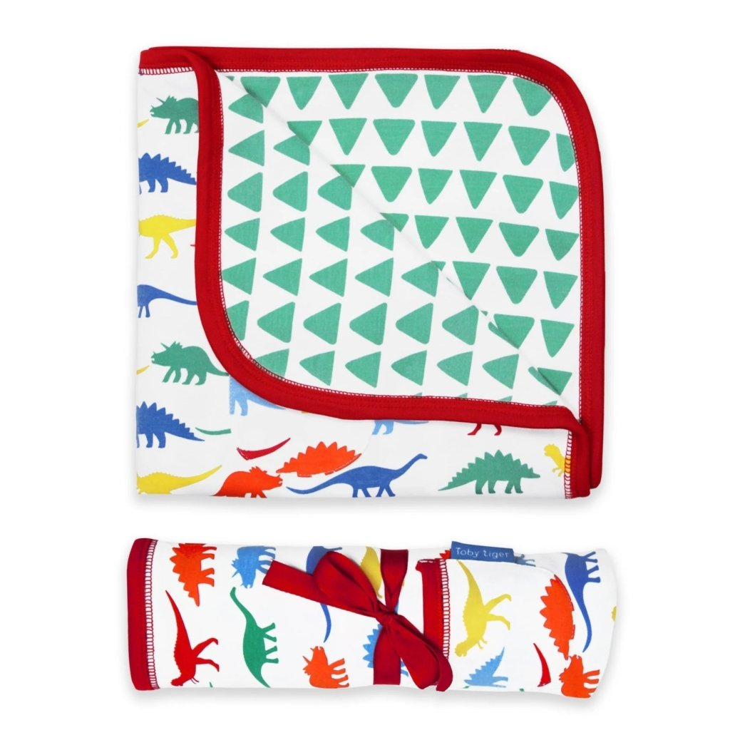 Bambinista-TOBY TIGER-Blankets-Organic Multi Dino Blanket