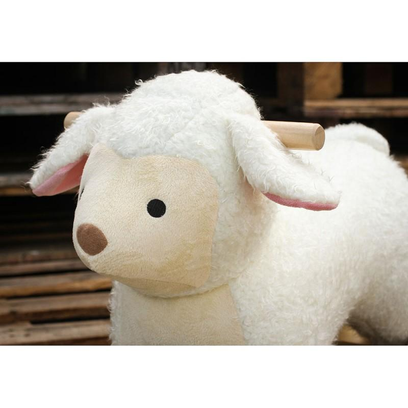 Bambinista-VILAC-Toys-2 in 1 Plush Rocking Sheep