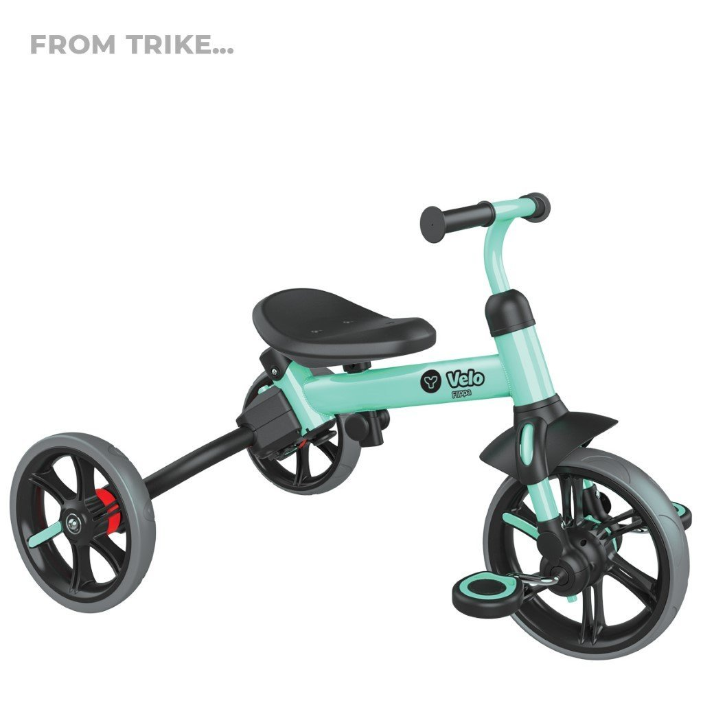 Bambinista-Y-VOLUTION-Toys-Y Velo Flippa 4 in 1 Balance Bike To Trike - Green