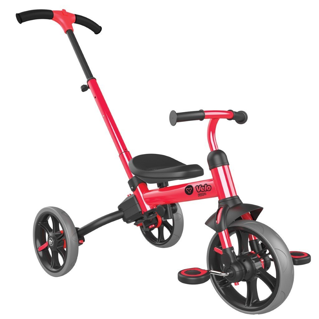 Bambinista-Y-VOLUTION-Toys-Y Velo Flippa 4 in 1 Balance Bike To Trike - Red