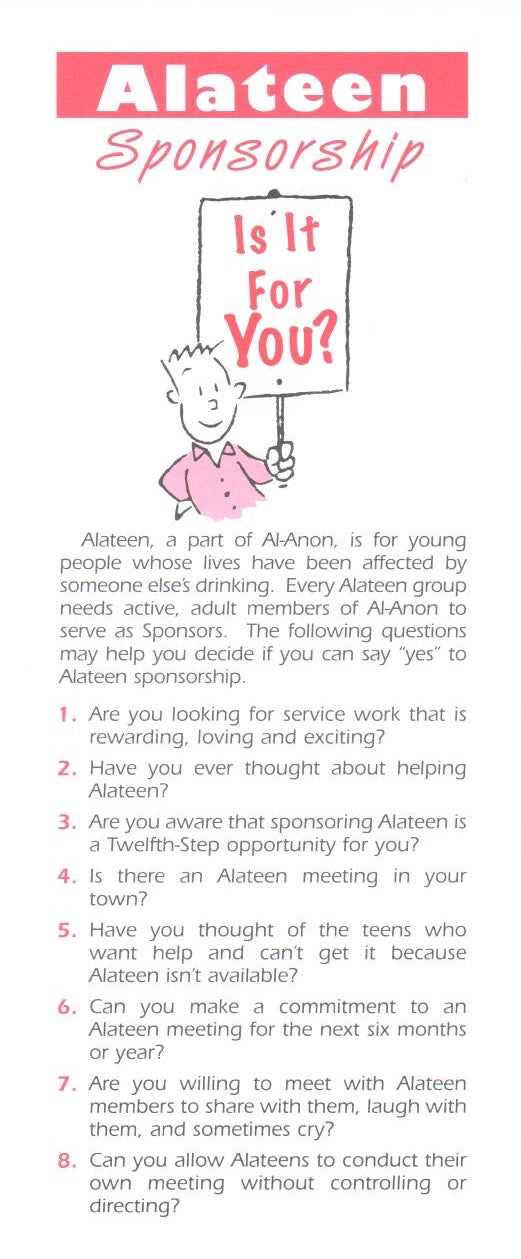 Alateen Sponsorship - Is It For You?