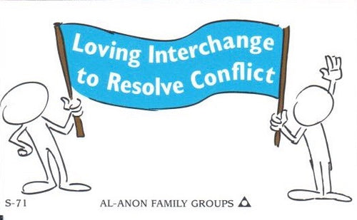 Loving Interchange to Resolve Conflict Wallet Card