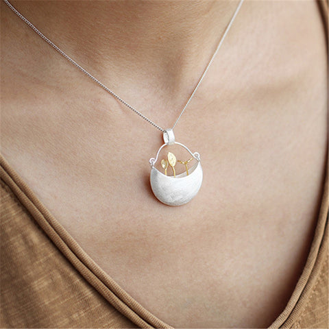Little Garden Pendant Necklace